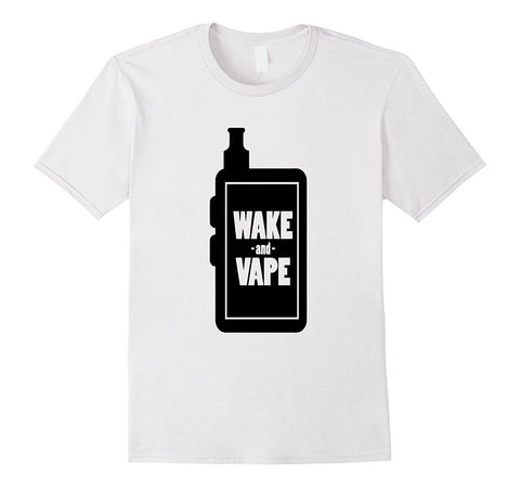 Wake and Vape Cotton Men's T-Shirt-Vape Fashion-Vaporello.com