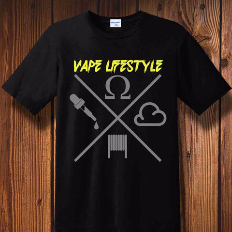Vape Lifestyle Cotton Men's T-Shirt-Vape Fashion-Vaporello.com
