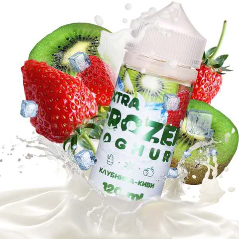 EXTRA FROZEN YOGHURT Strawberry Kiwi 120ml-E-JUICE-Vaporello.com