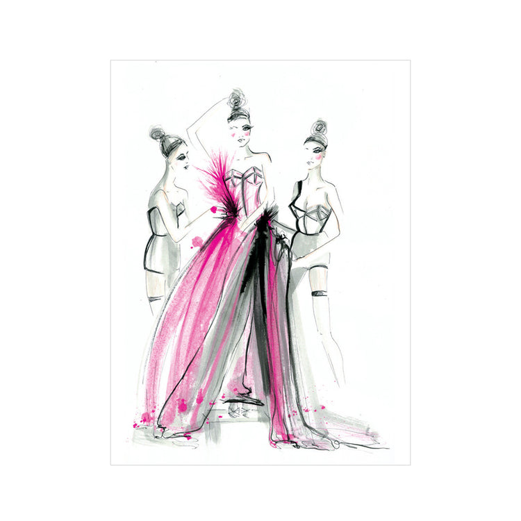 Couture Dress Fitting Greeting Card
