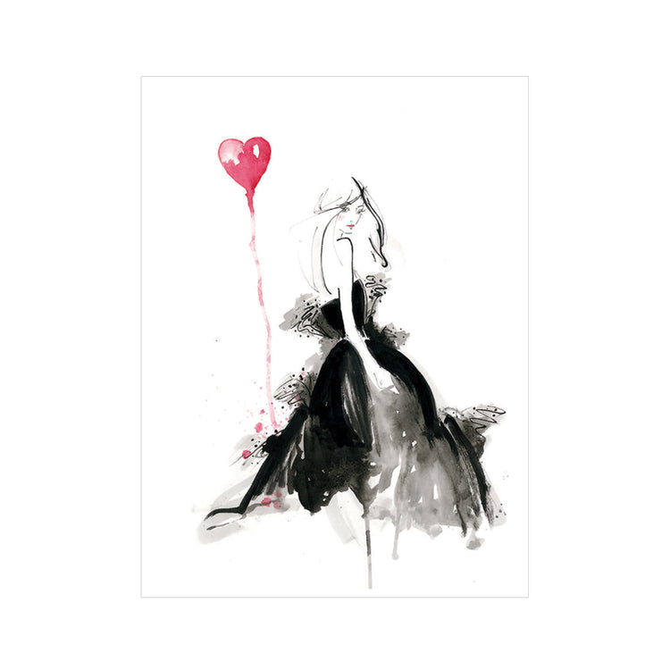 I Heart YSL Greeting Card