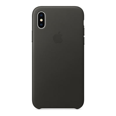 iPhone Case - Leather Series Charcoal Grey - MonstaCase