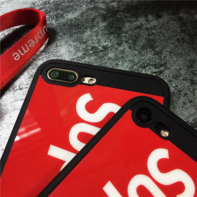 Designer Classic Red/Black iPhone Case - MonstaCase