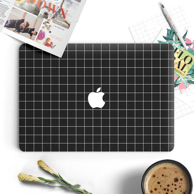 MacBook Decal - Black Checker - MonstaCase