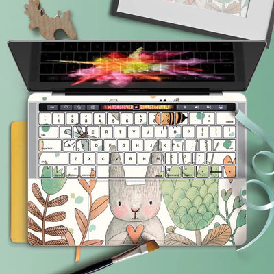MacBook Decal - Summer Garden Rabbit - MonstaCase
