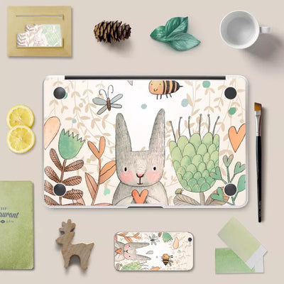 MacBook Decal - Autumn Garden Rabbit - MonstaCase