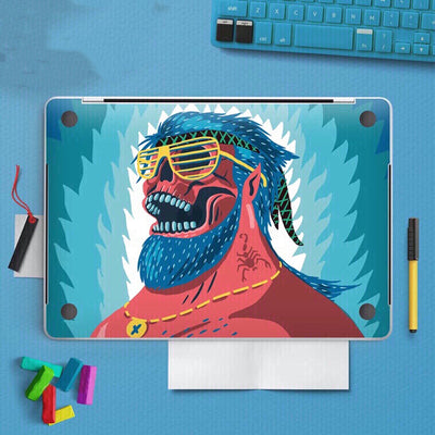 MacBook Decal - Blue Chambers - MonstaCase