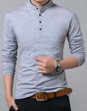 Latest Shirts Pattern Clothes Casual Men long Sleeve T-Shirts