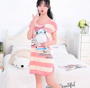 Summer Cartoon Night Gown Pajamas