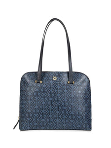 Fran Blue Leather Handbag