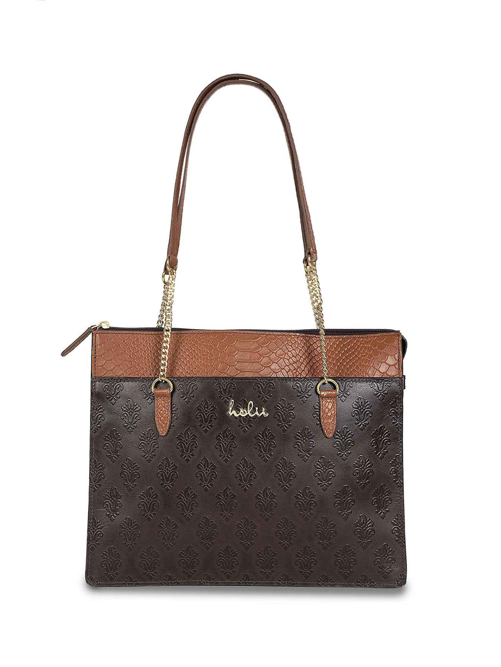 Audrey Brown Leather Tote
