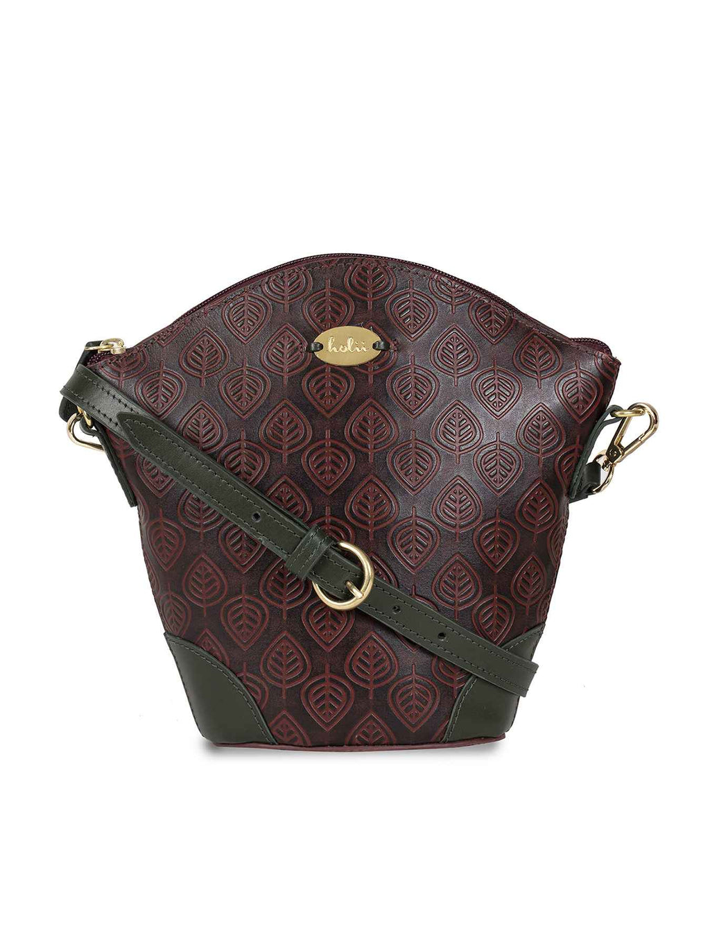 Amberleigh Red Leather Sling Bag