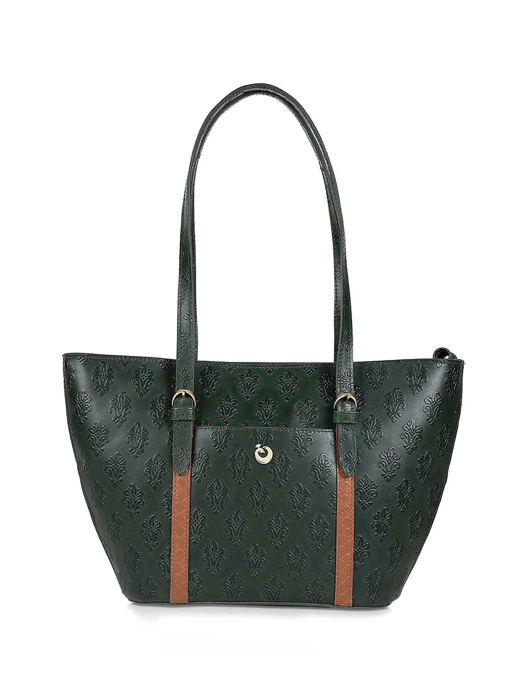 Ursula Green Leather Tote
