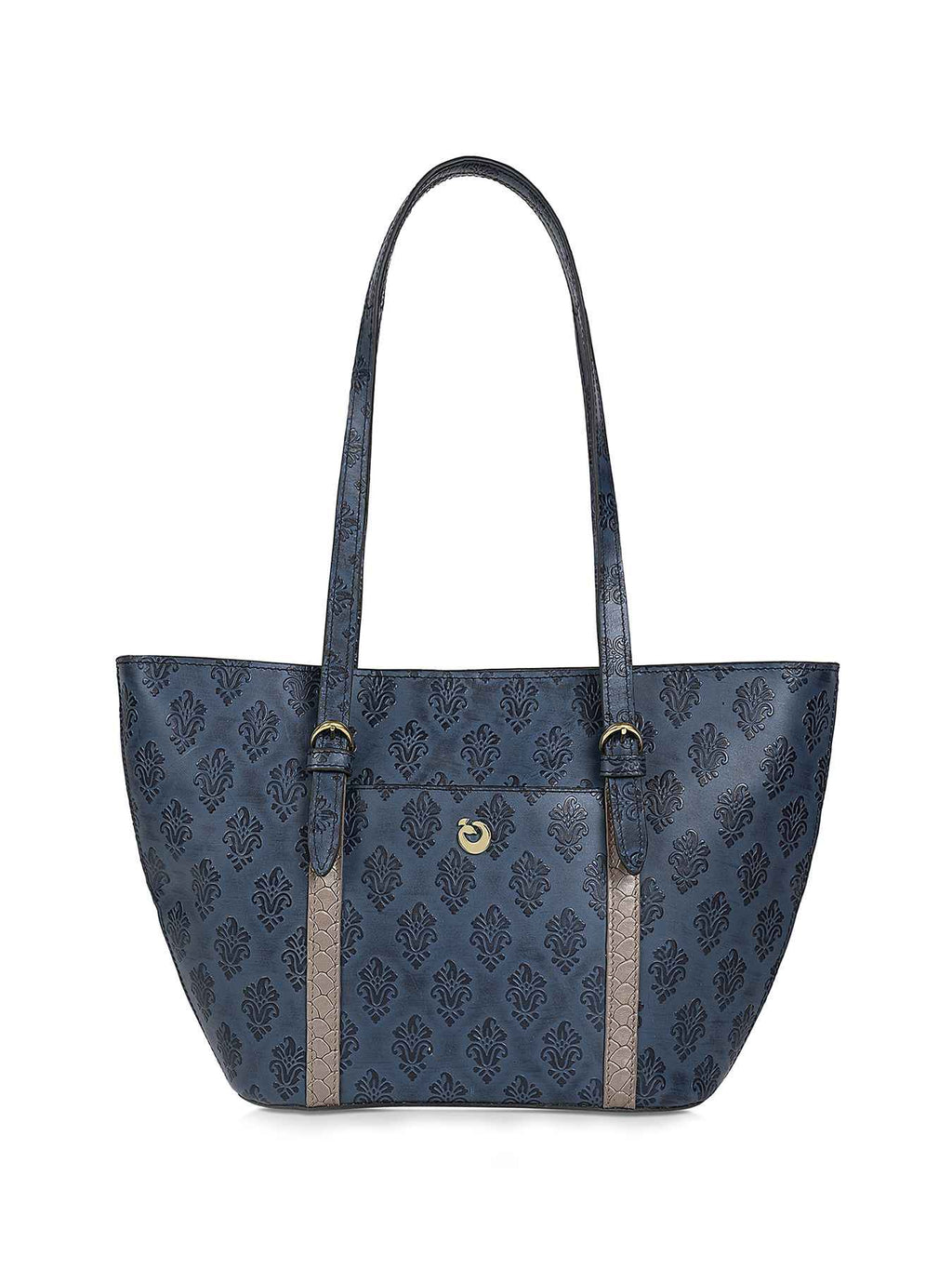 Ursula Blue Leather Tote