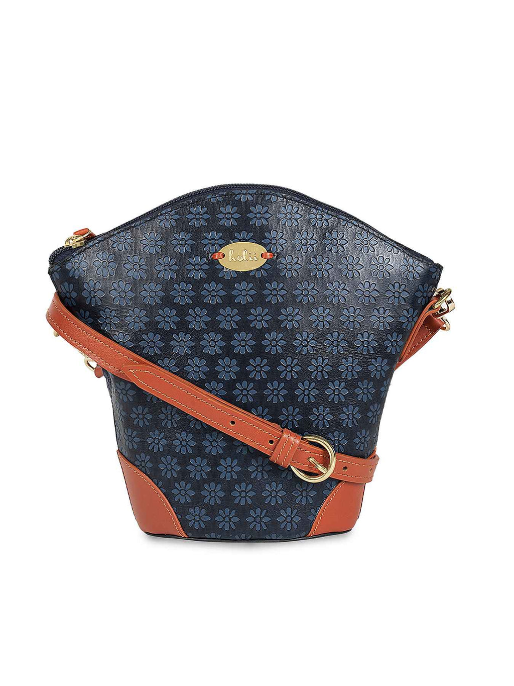 Amberleigh Blue Leather Sling Bag