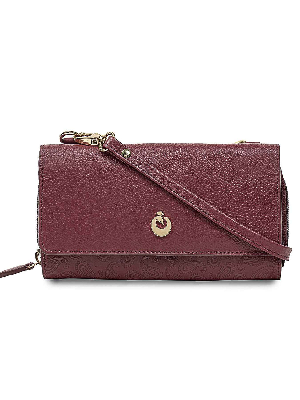 Kerri Bordeaux Leather Wallet
