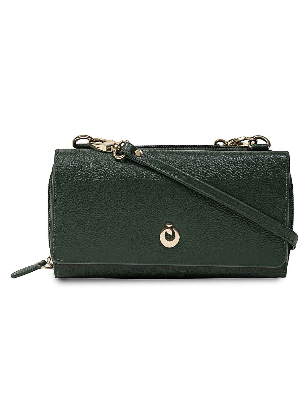 Kerri Green Leather Wallet