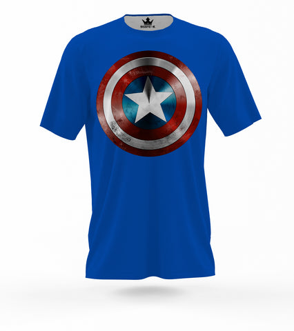 T-Shirt Capitan America Stella 3D Royal