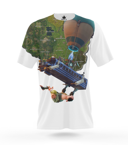 T-Shirt Battle Royale Bus 3D allover