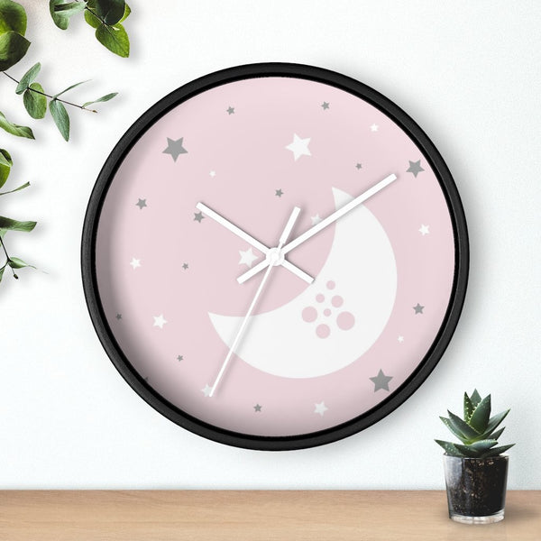 Pink Nursery Wall Clock