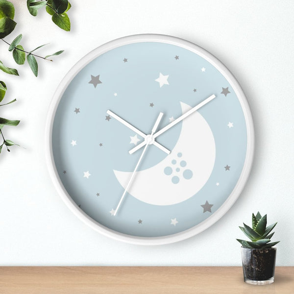 Blue Nursery Wall Clock - Home Decor - Imagonarium