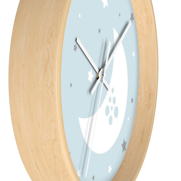 Blue Nursery Wall Clock - Imagonarium