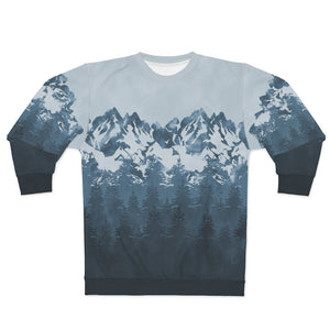 Blue Mountain Unisex Sweatshirt - All Over Prints - Imagonarium