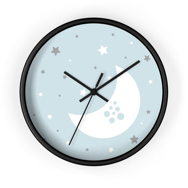 Blue Nursery Wall Clock