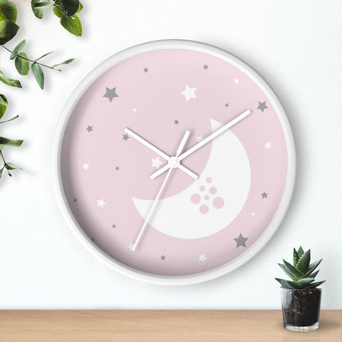 Pink Nursery Wall Clock - Home Decor - Imagonarium