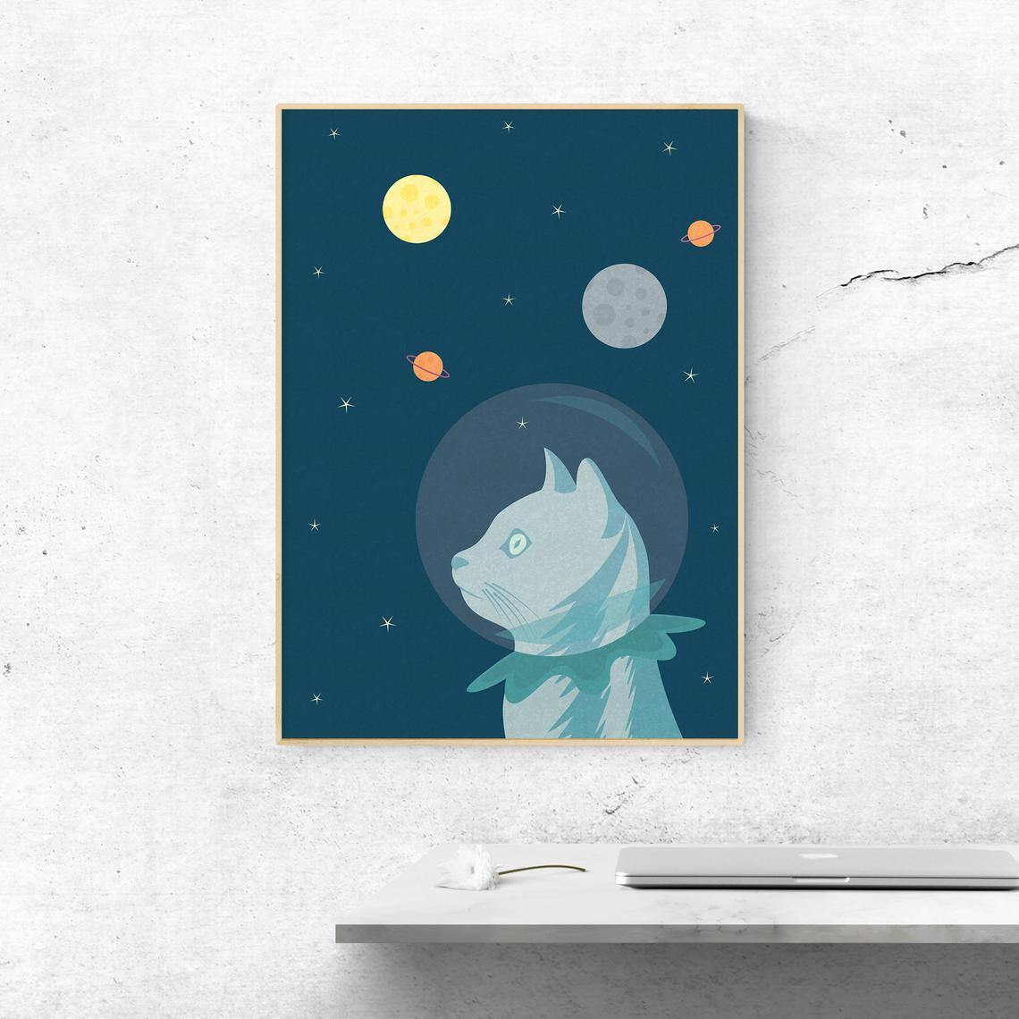 Space Cat Poster -  - Imagonarium