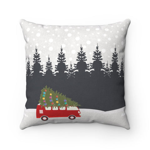 Cute Christmas Throw Pillow – Square Pillow Made from Spun Polyester - Home Decor - Imagonarium