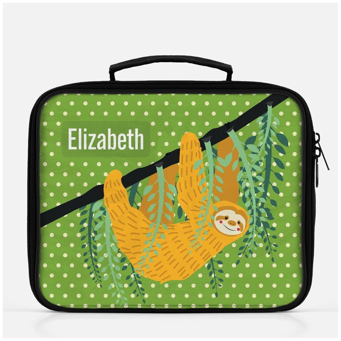 Personalized cute sloth lunch box for kids -  - Imagonarium
