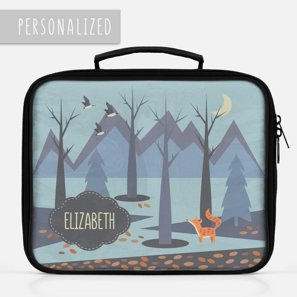 Personalized Autumn Landscape Lunch Box for Kids -  - Imagonarium