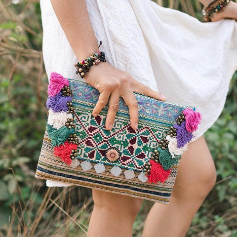 Aldinah Handcrafted Boho Clutch