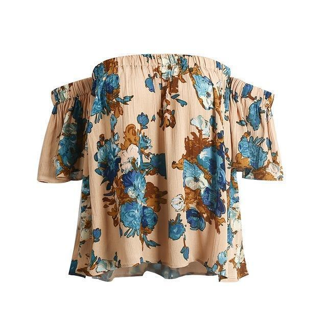 Bella Flower Lover Off-the-Shoulder Blouse