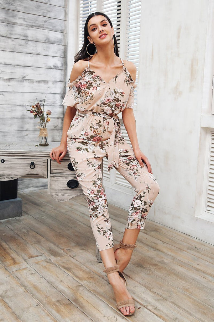 Mary Cold Shoulder Jumpsuit