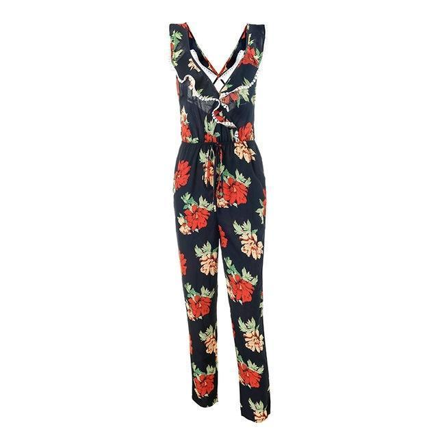 Ruby Red Rose Jumpsuit