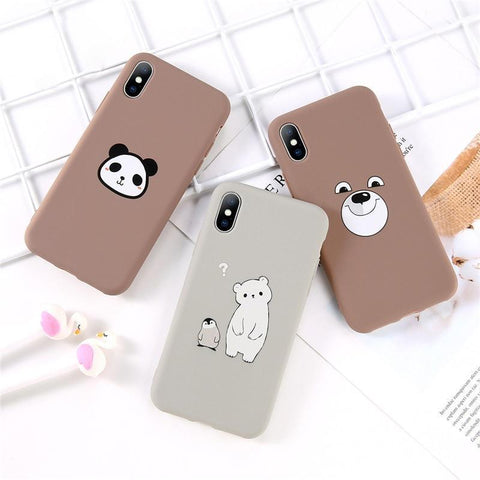 Cute Panda, Pinguin & Bear iPhone Case