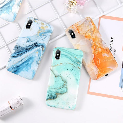 Marble Watercolor iPhone Case