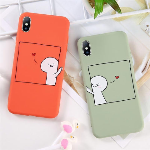 Cute Cartoon Couple iPhone Case