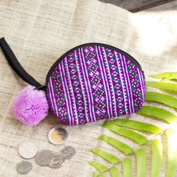 SkyFella Store Shoes & Bags Nadiah Pom Pom Coin Purse