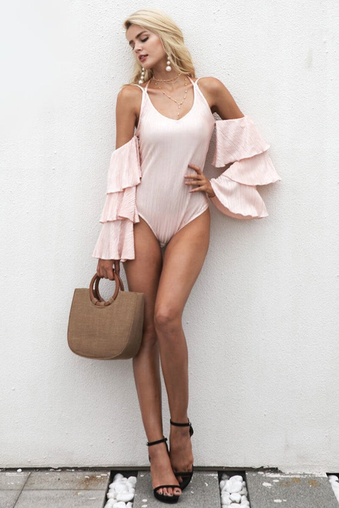 Jennie Tiered Ruffle Sleeves Bodysuit