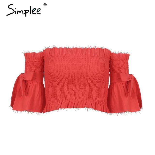 Mila Off-Shoulder Crop Top