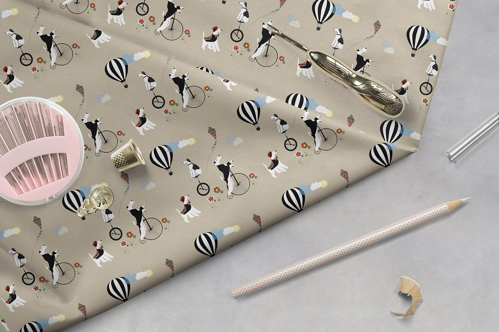 Wire Fox Terrier - Circus Themed Fabric