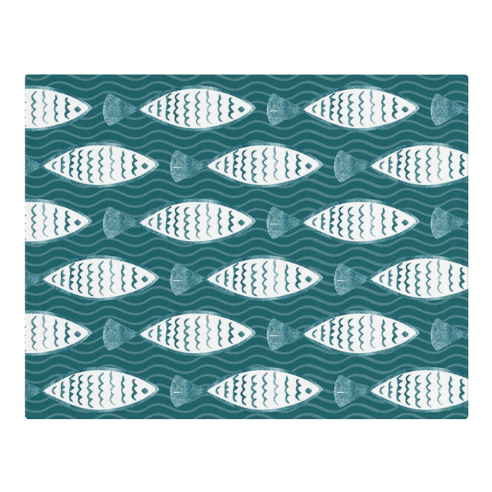Block Print Style Placemats x6