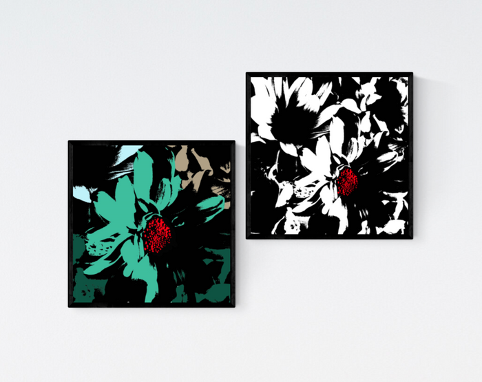 Graphic Daisy Prints x2