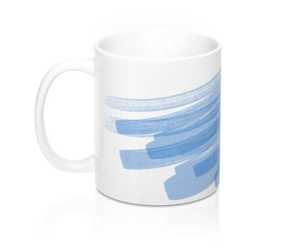Blue Stroke Mug Set