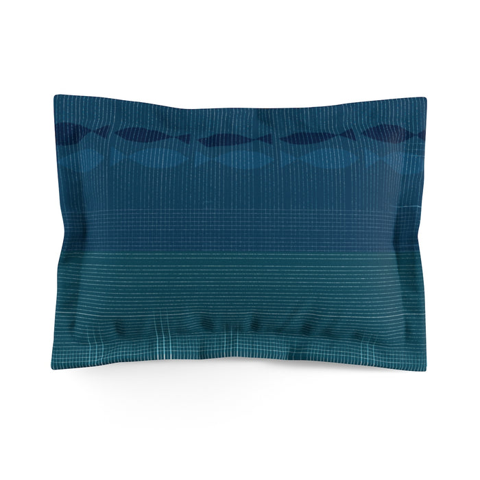 Pinstripe Fish Pillow Sham