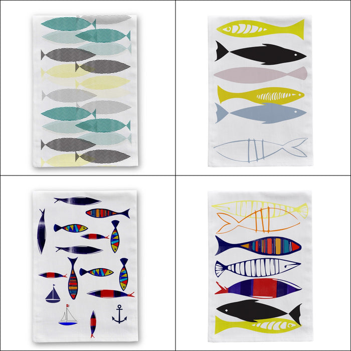 Swimming Fish Tea Towel Set