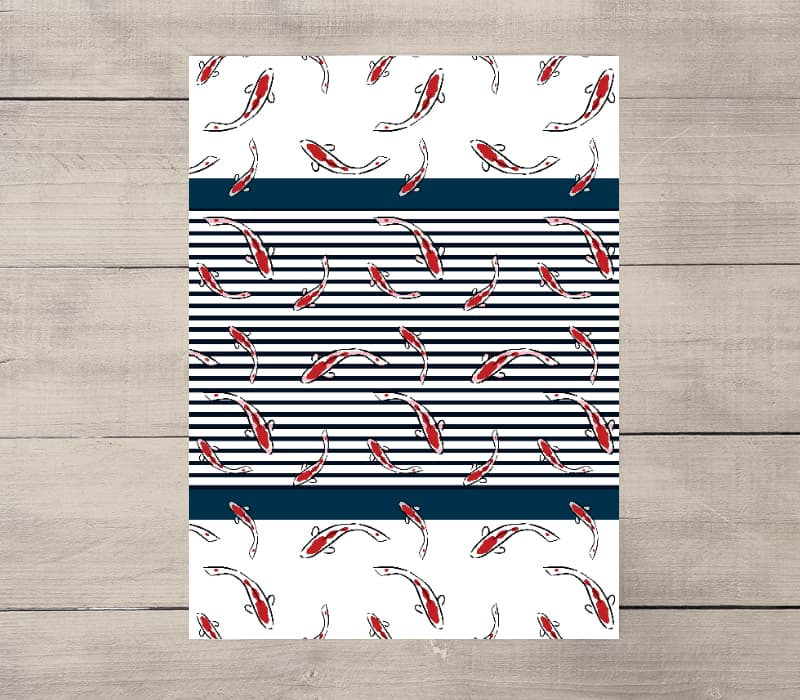 Nautical Stripe Tea Towel Set